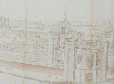 detail from View of Hampton Court Palace from the South, with the River in the Foreground Antonis Van der Wyngaerde © Ashmolean Museum, University of Oxford