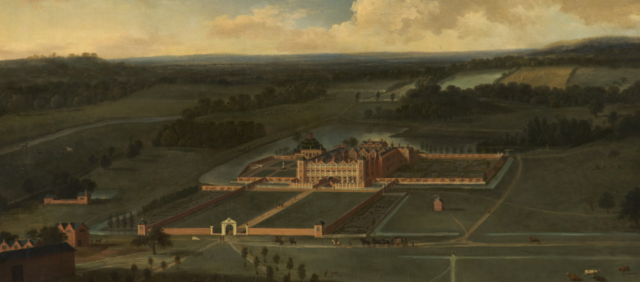 detailfrom Dunham Massey: Bird's-eye View from the South, 1697 Adriaen van Diest (c.1656 - 1704)