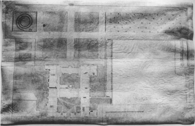 "A plan of William Cecil's garden in the Strand [courtsey of the Trsutees of the Burghley Esate] from Husselby, Jill, and Paula Henderson, ""Location, Location, Location! Cecil House on the Strand"". Architectural History 45 (2002)"