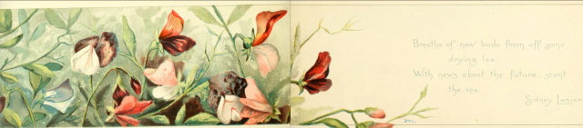 Sweet peas and summer flowers, 1891