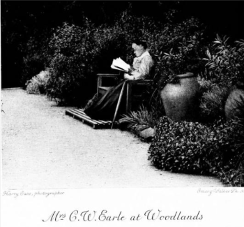 Mrs Earle on the terrace at Woodlands from Pot POurri mised by two