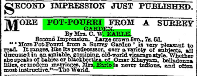 from The Times 20th October, 1899