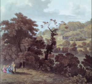 Killerton in 1818, engarving by D.Havell National Trust