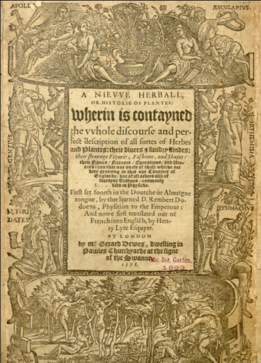 The title page of A Niewe Herball, 1578