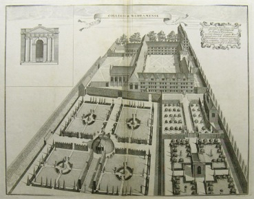 The gardens at Wadham from William Williams, Oxonia Depicta 1732