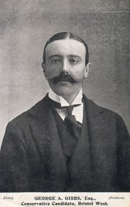George Gibbs, MP the first Baron Wraxall Thomas Protheroe Studios, Bristol, 1906