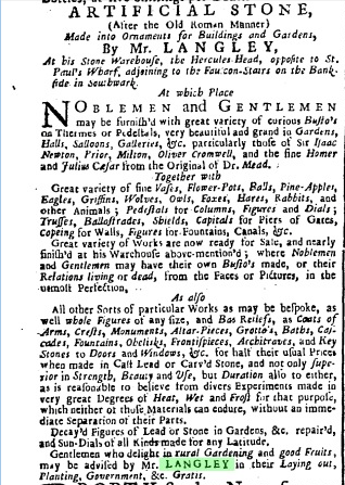 Daily Advertiser (London, England), Tuesday, April 13, 1731; Issue 60.