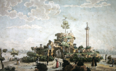 Joseph Tassy, The Artificial Mountain built on the Champs de Mars, 1793 National Gallery, Washington