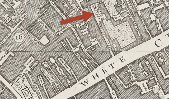 Whitechapel, detail from John Rocque's , London Westminster and Southwark, 1746 http://www.motco.com/map/81002/imageone-a.asp?Picno=81002000