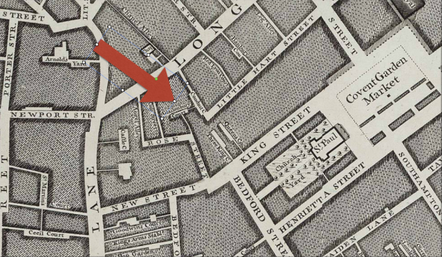 Long Acre and Covent Garden, detail from John Rocque's , London Westminster and Southwark, 1746 http://www.motco.com/map/81002/imageone-a.asp?Picno=81002000