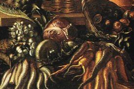 detail from Joachim Wtewael 1566-1638 The Vegetable seller 1618 Utrecht Centraal Museum