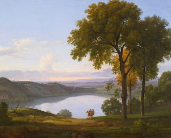 Nicolas-Didier Boguet (Chantilly 1755 – 1839 Rome), View of Lake Nemi. Estimate $20,000-30,000. Photo: Sotheby's.