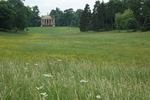 The Temple of Concord and Victory, viewed along the Grecian Valley.© Copyright Philip Halling, 2008 and licensed for reuse under this Creative Commons Licence.