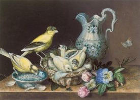 Still life of two canaries http://www.artnet.com/artists/augusta-innes-withers/still-life-of-two-canaries-4XEaXk3uf_vDL93pH5de6g2