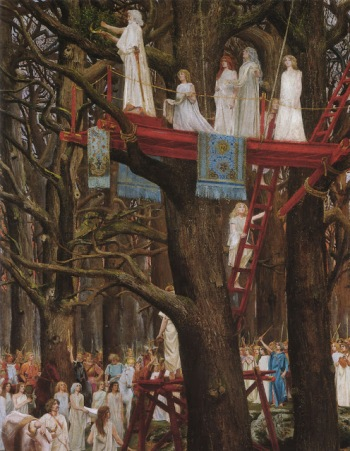 Druids Cutting Mistletoe on the Sixth Day of the Moon (c.1890) Henri Paul Motte http://www.leicestergalleries.com/19th-20th-century-paintings/d/symbolism/henri-paul-motte/15049