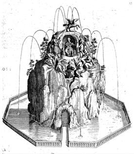 Design for a Mount Parnassus from De Caus, Les Raisons des Forces Mouvement, 1615