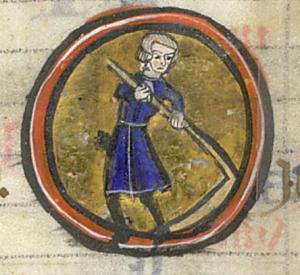 BNF Latin 12834, fol. 54v, Calendrier : juin
