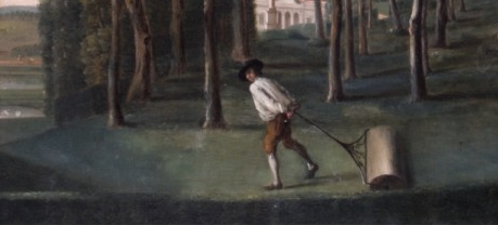 detail from a painting of Hartwell House by Balthasar Nebot , 1738 Bucks County Museum