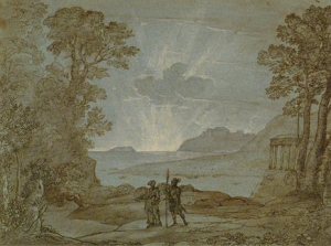 Claude Lorrain, Coast View with Aeneas and the Cumaean Sibyl, 1673. British Museum