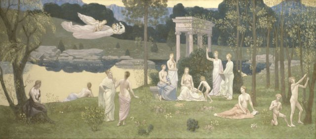 X Pierre Cécile Puvis de Chavannes French, 1824-1898 The Sacred Grove, Beloved of the Arts and the Muses, 1884/89 http://www.artic.edu/aic/collections/artwork/81566