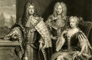 The future George I with his son, the future George II and Caroline http://www.hrp.org.uk/kensington-palace/history-and-stories/palace-people/queen-caroline/
