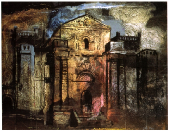John Piper, 1941 taken dfrom Jeremy Musson, THe Country HOuses of Sir John Vanbrugh