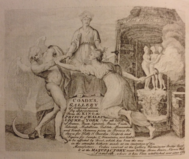 from the Catalogue of Coade's Gallery, 1799