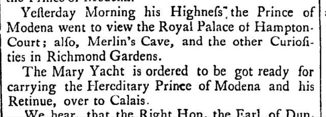 General Evening Post (London, England), November 11, 1735 - November 13, 1735;