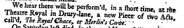 London Daily Post and General Advertiser (London, England), Friday, November 28, 1735;