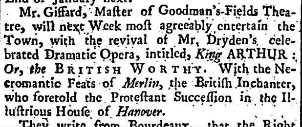 Read's Weekly Journal Or British Gazetteer (London, England), Saturday, December 6, 1735;