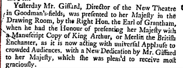 London Daily Post and General Advertiser (London, England), Thursday, January 22, 1736