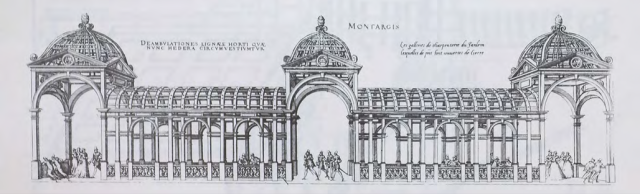 The Pergola Gallery, Chateau of Montargis from Les plus excellents bastiments de France, 1576