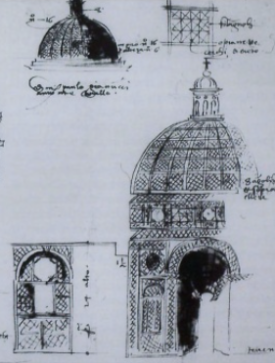 Giovanni Colonna da Tivoli, Sketch book (1554) Design of a pergola for the Ghinucci/Gianucci Garden on the Quirinal
