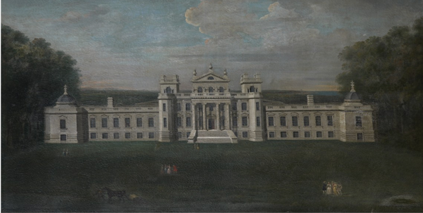 A painting of the south front of Seaton Delaval Hall painted by Arthur Pond in May 1745.
