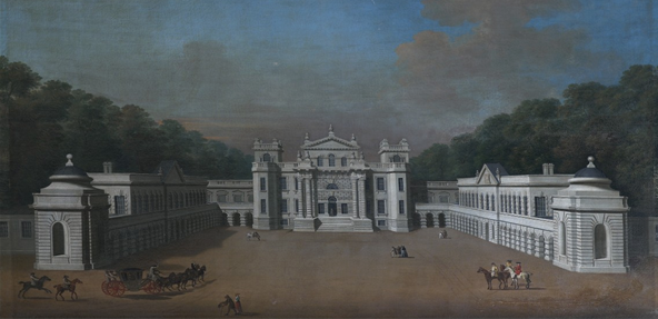 A painting depicting the south front of Seaton Delaval Hall. Not Used CL 07/04/2010