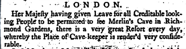 London Daily Post and General Advertiser (London, England), Wednesday, September 24, 1735;