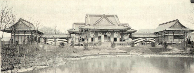 The Japanese Pavilion at Chicago 1893 from http://www.baxleystamps.com/litho/ogawa/ogawa_hooden.shtml