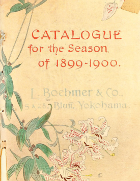 The cover of Boehmer's Catalogue 1899