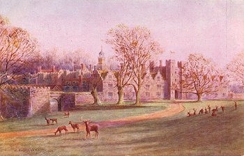 Knole - North West Front. (rev) by C. Essenhigh Corke Publisher: J. Salmon, Sevenoaks, England - No: 623 From an original water colour