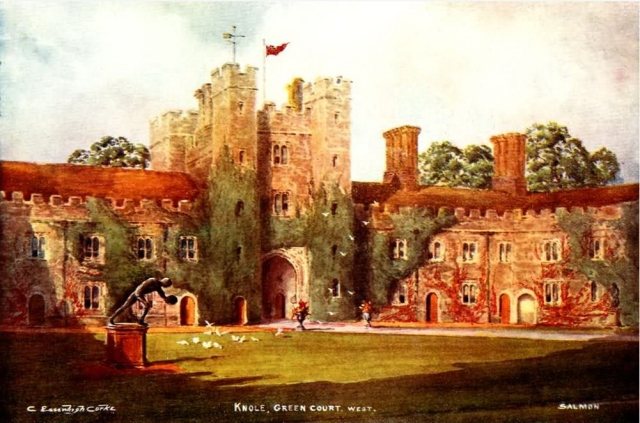 """Green Court, Knole From """"English Homes and Villages (Kent & Sussex)"""" by Lady Hope published by J. Salmon, 1909"""