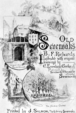 Title page of Old Sevenoaks by Frank Richards, 1901