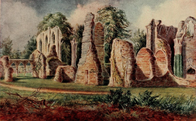 The ruins of Bayham Abbey