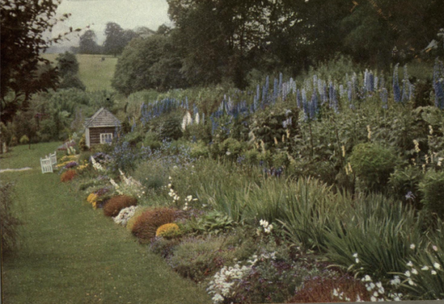 Rock and herbaceous Border at The Glebe, Sevenoaks, from Round the Year