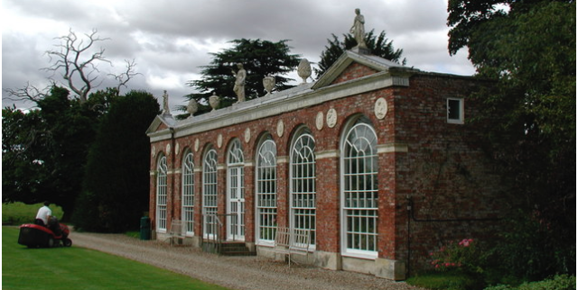 The Orangery at Burton Constable, East Yorkshire, designed by THomas Atkinson 1782 with artificial stone ornaments supplied by Eleanor Coade. © Copyright Paul Glazzard, 2007 and licensed for reuse under this Creative Commons Licence.