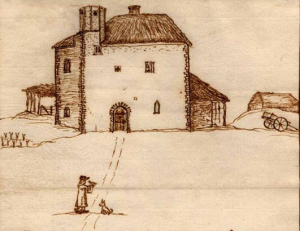 Drawing of Thetford Warren Lodge by Thomas Martin, 1740 © Thetford Ancient House Museum, Norfolk Museums and Archaeology Service www.museums.norfolk.gov.uk