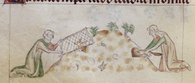 from the Queen Mary Psalter, BL Royal 2 B VII  f. 155v