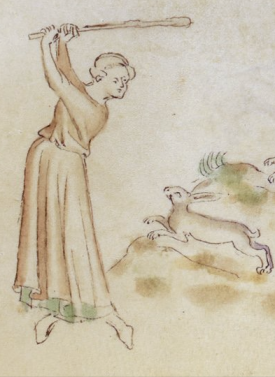 detail from the Queen Mary Psalter, BL Royal 2 B VII  f. 156