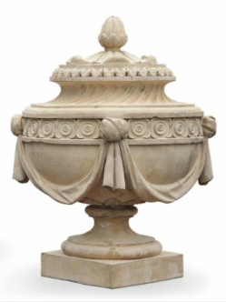 Coade Stone Urn from the garden at Dunsborough Park, http://www.christies.com/lotfinder/furniture-lighting/a-pair-of-george-iii-artificial-coade-5693766-details.aspx