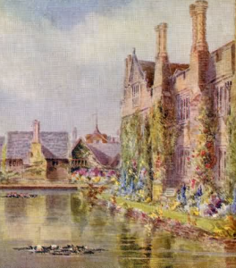 West View, Hever Castle, Hever painted by Charles Essenhigh Corke - 1904