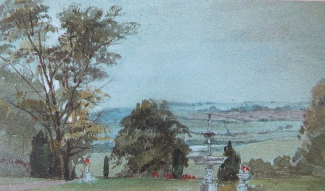 The South Garden, watercolour by Emily Meynell Ingram, c.1880, Halifax Collection